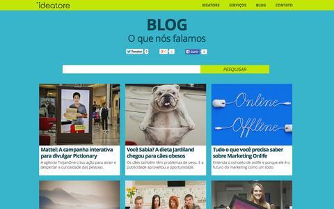 Screenshot of Blog ideatore.com.br - Blog | Propaganda, Marketing, Desenvolvimento, Branding | Ideatore - captured Oct. 29, 2014