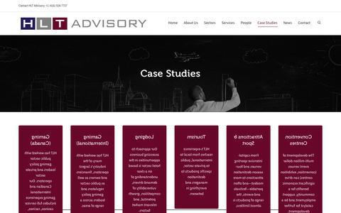 Screenshot of Case Studies Page hlta.ca - HLT Case Studies – landing page | HLT Advisory Inc. - captured Jan. 23, 2016