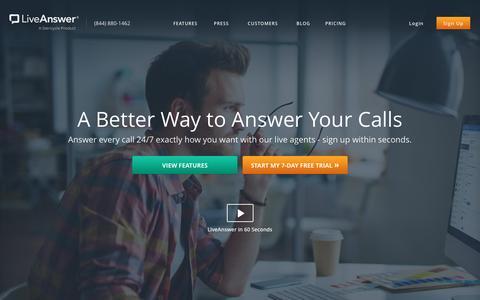 Screenshot of FAQ Page liveanswer.com - LiveAnswer - 24/7 Business Phone Support - captured Nov. 22, 2016