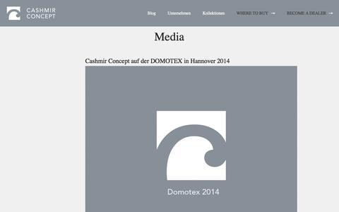 Screenshot of Press Page cashmirconcept.com - Media | Cashmir Concept - captured Oct. 2, 2014
