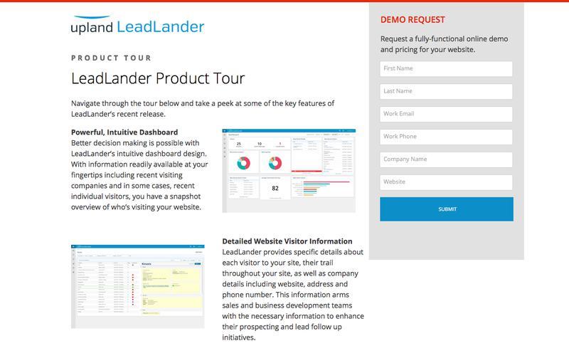 LeadLander Product Tour