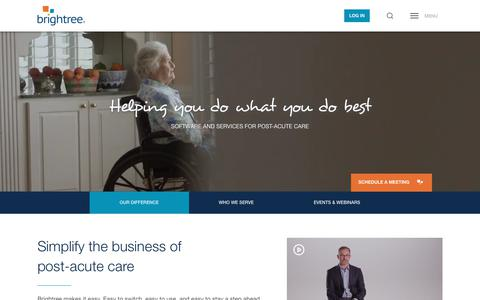 Screenshot of Home Page brightree.com - HME/DME Software, Home Health Solutions & More | Brightree - captured March 13, 2019