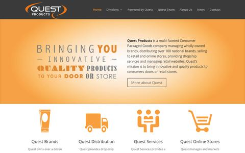 Screenshot of Home Page questproductsinc.com - Home - Quest Products, Inc. - captured July 23, 2018