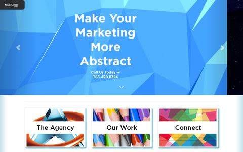 Screenshot of Home Page abstractcreatives.com - Web Design & Business Marketing Services Lafayette LA | Abstract Creatives - captured Sept. 30, 2014