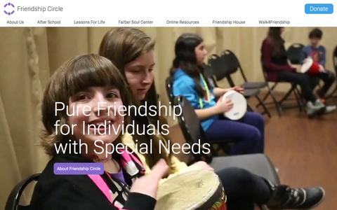 Screenshot of Home Page friendshipcircle.org - Friendship Circle of Michigan | Support and programs for children with special needs - captured Oct. 14, 2015