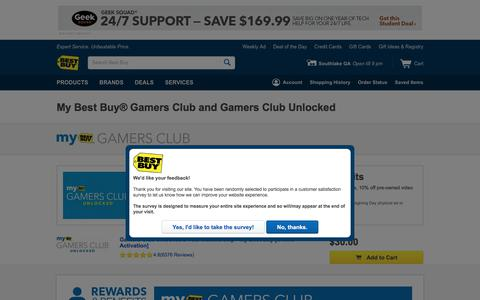 Screenshot of Signup Page bestbuy.com - My Best Buy Gamers Club - Best Buy - captured July 31, 2017