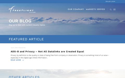 Screenshot of Blog freeflightsystems.com - Blog – FreeFlight Systems - captured Aug. 29, 2018