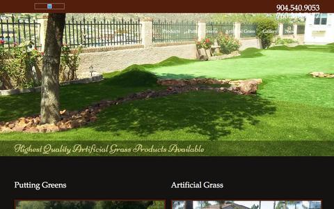 Screenshot of Home Page muirfieldsports.com - Florida Artificial Grass & Golf Putting Greens Installation - captured Jan. 11, 2016