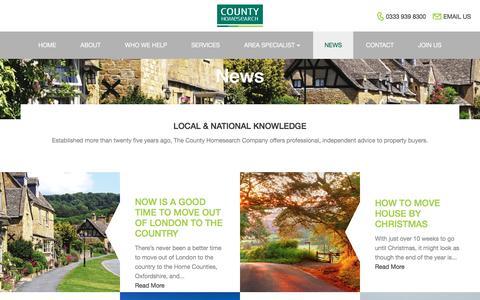 Screenshot of Press Page county-homesearch.com - News | County Homesearch : County Homesearch - captured Nov. 12, 2016