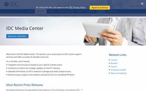 IDC.com - Media Center - PR Contact Details