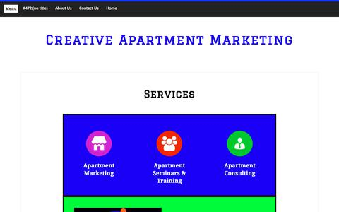 Screenshot of Services Page creativeapartmentmarketing.com - Services – Creative Apartment Marketing - captured July 23, 2018