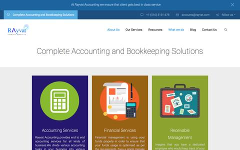 Screenshot of Services Page rayvataccounting.com - Australian Accounting and Tax Services - captured March 9, 2017