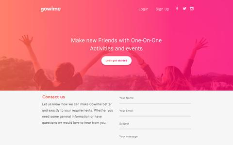 Screenshot of Contact Page gowime.com - Gowime - captured July 22, 2018