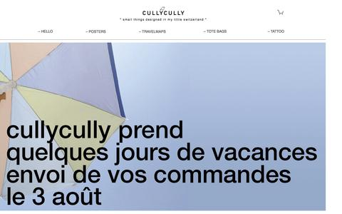 Screenshot of Home Page cullycully.ch - cullycully | my little switzerland - captured July 19, 2016