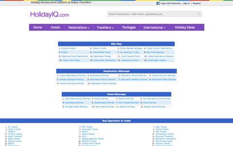 Screenshot of Site Map Page holidayiq.com - SitemapIQ - captured Sept. 25, 2014