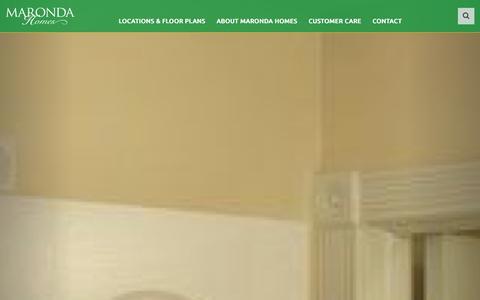 Screenshot of Home Page marondahomes.com - New Construction Homes for Sale Home Builder | Maronda Homes - captured Jan. 9, 2016