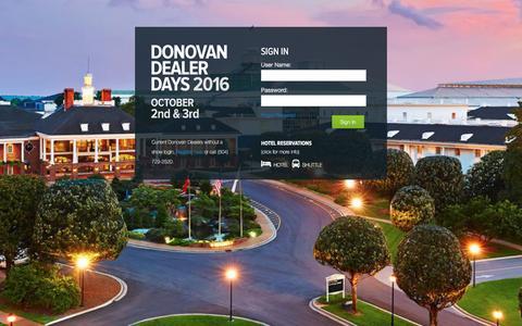 Screenshot of Login Page donovanmarine.com - Donovan Marine Parts - Login - captured Aug. 2, 2016