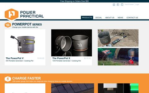 Screenshot of Products Page powerpractical.com - Catalog | Power Practical - captured Sept. 12, 2014