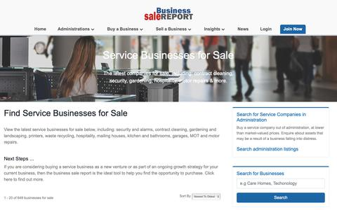 Screenshot of Services Page business-sale.com - Service Businesses for Sale | Browse online at business-sale.com - captured Oct. 7, 2018