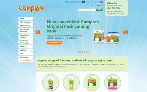 Screenshot of Home Page complan.com - Home | Complan - captured Sept. 19, 2014