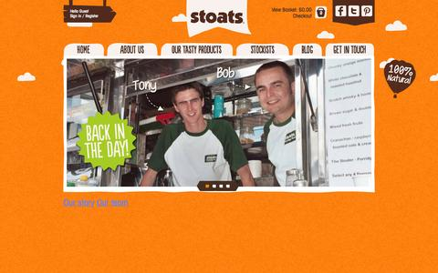 Screenshot of About Page eatstoats.com - About - captured Oct. 7, 2014