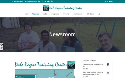 Screenshot of Press Page drtc.org - Newsroom | Dale Rogers Training Center - captured Oct. 7, 2018