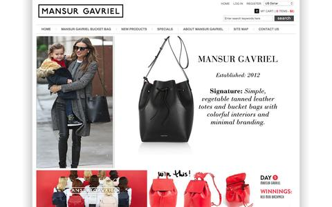 Screenshot of Home Page cargointernational-eg.com - Mansur Gavriel Bucket Bag - 60%OFF- Lower Price Buy Online - captured Jan. 25, 2016