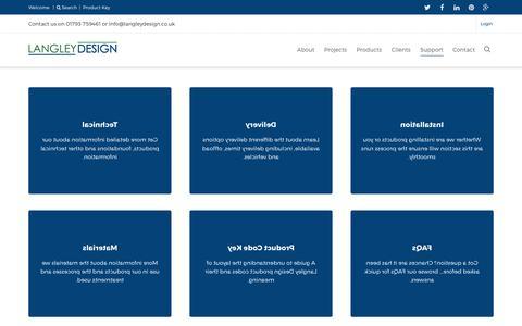Screenshot of Support Page langleydesign.co.uk - Support - Langley Design - captured May 14, 2017