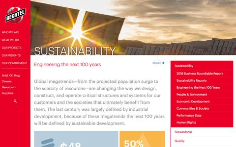 Sustainable solutions for long-term prosperity - Bechtel