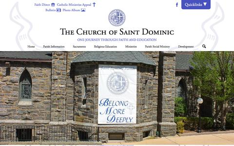 Screenshot of Home Page stdoms.org - St. Dominic Catholic Church - captured Oct. 24, 2017