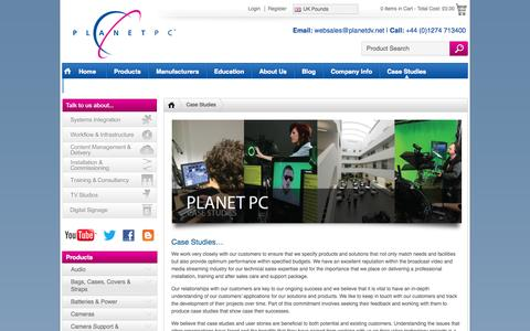 Screenshot of Case Studies Page planetdv.net - Case Studies - Planet PC - captured Oct. 10, 2014