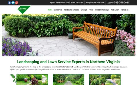 Screenshot of Home Page weilers-lawn.com - Landscaping, Lawn Care — Falls Church, VA — Weiler's Lawn & Landscape - captured July 1, 2018