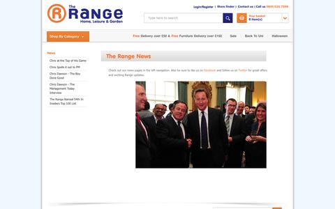 Screenshot of Press Page therange.co.uk - The Range - News - captured Sept. 19, 2014