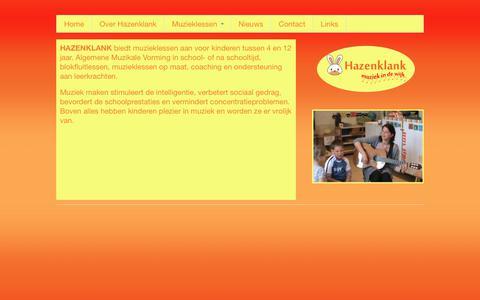 Screenshot of Home Page allaerd.org - Hazenklank | - captured Oct. 19, 2018
