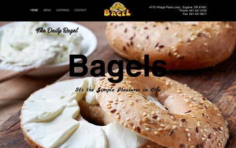 Screenshot of Home Page daily-bagel.com - Daily Bagel - Bagels Baked Fresh Daily - captured Dec. 16, 2016