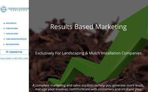 Screenshot of Home Page bep-marketing.com - Marketing for Mulch & Landscaping Companies - captured July 22, 2016