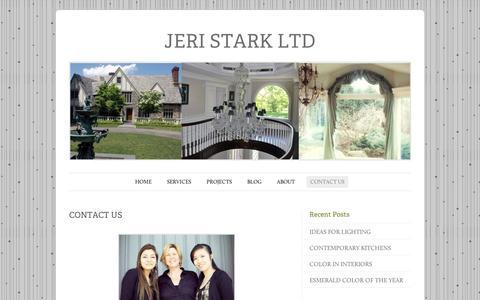 Screenshot of Contact Page wordpress.com - CONTACT US   JERI STARK LTD - captured Sept. 12, 2014