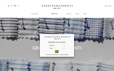 Screenshot of About Page monti.it - Il Gruppo Tessile Monti - captured Feb. 14, 2016
