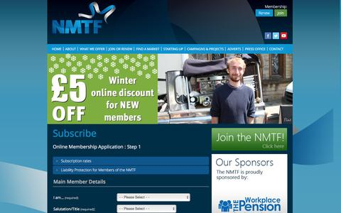 Screenshot of Signup Page nmtf.co.uk - NMTF Ltd - Stage 1 - captured Nov. 29, 2016