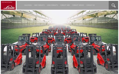 Screenshot of Home Page lindemh.com.au - Linde Material Handling Australia | New & Used Forklifts for Sale - captured Dec. 15, 2018