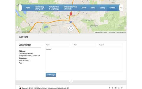 Screenshot of Contact Page partiart.com - Partiart | Contact - captured Oct. 1, 2014