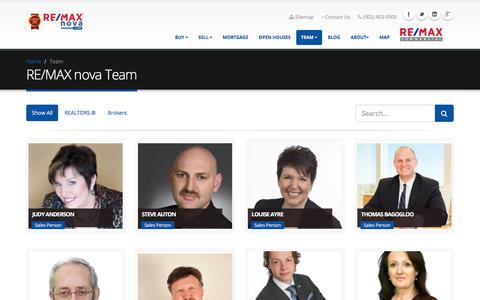 Screenshot of Team Page remaxnova.com - Nova Scotia Real Estate and MLS Listings | RE/MAX nova - captured Nov. 9, 2017