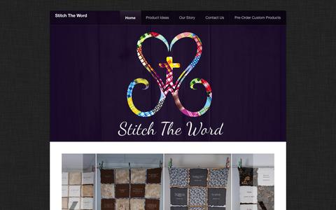 Screenshot of Home Page stitchtheword.com - Home - captured Sept. 30, 2014