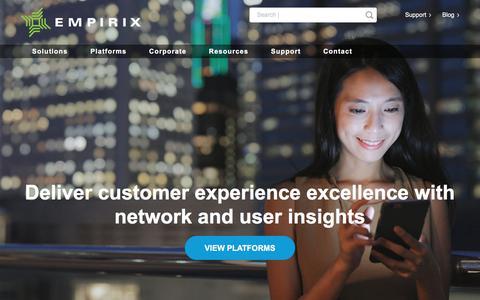 Screenshot of Home Page empirix.com - Customer Experience Management – Empirix - captured Aug. 6, 2019