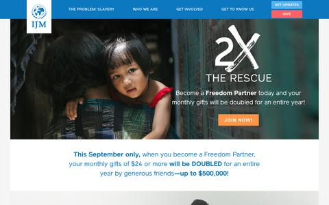 Freedom Partner - 2x the Rescue | International Justice Mission