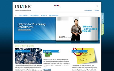 Screenshot of Home Page inlynksoft.com - Home | Inlynk Software Inc. - captured Oct. 6, 2014