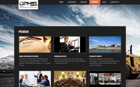 Screenshot of Products Page ophirmri.com - Premium     OphirMRI - captured Feb. 16, 2016