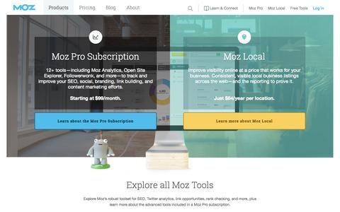 Screenshot of Trial Page moz.com - Software for Managing Inbound Marketing and Local SEO - Moz - captured Nov. 3, 2015