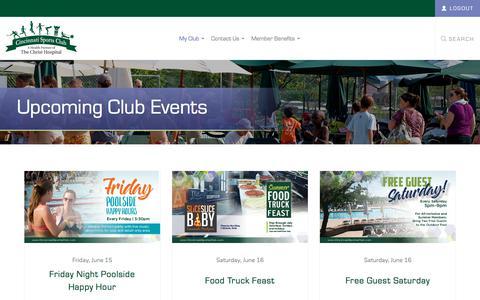 Screenshot of Login Page cincinnatisportsclub.com - My Club - captured June 13, 2018