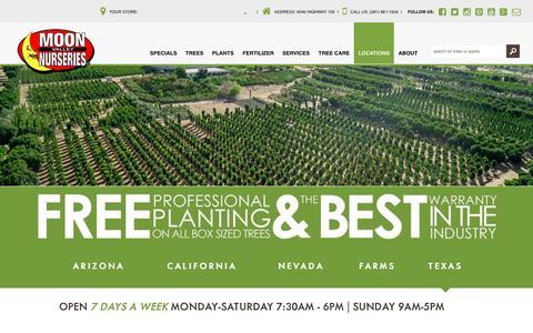Screenshot of Locations Page moonvalleynurseries.com - Locations | Tree & Plant Nursery | Moon Valley Nurseries - captured Dec. 1, 2016
